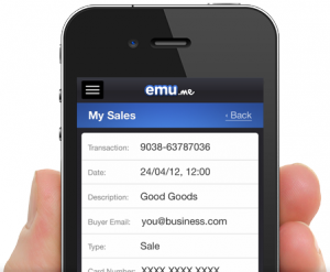 4. emu front phone 300x247 Comment prendre des paiements par carte gratuitement avec Emu